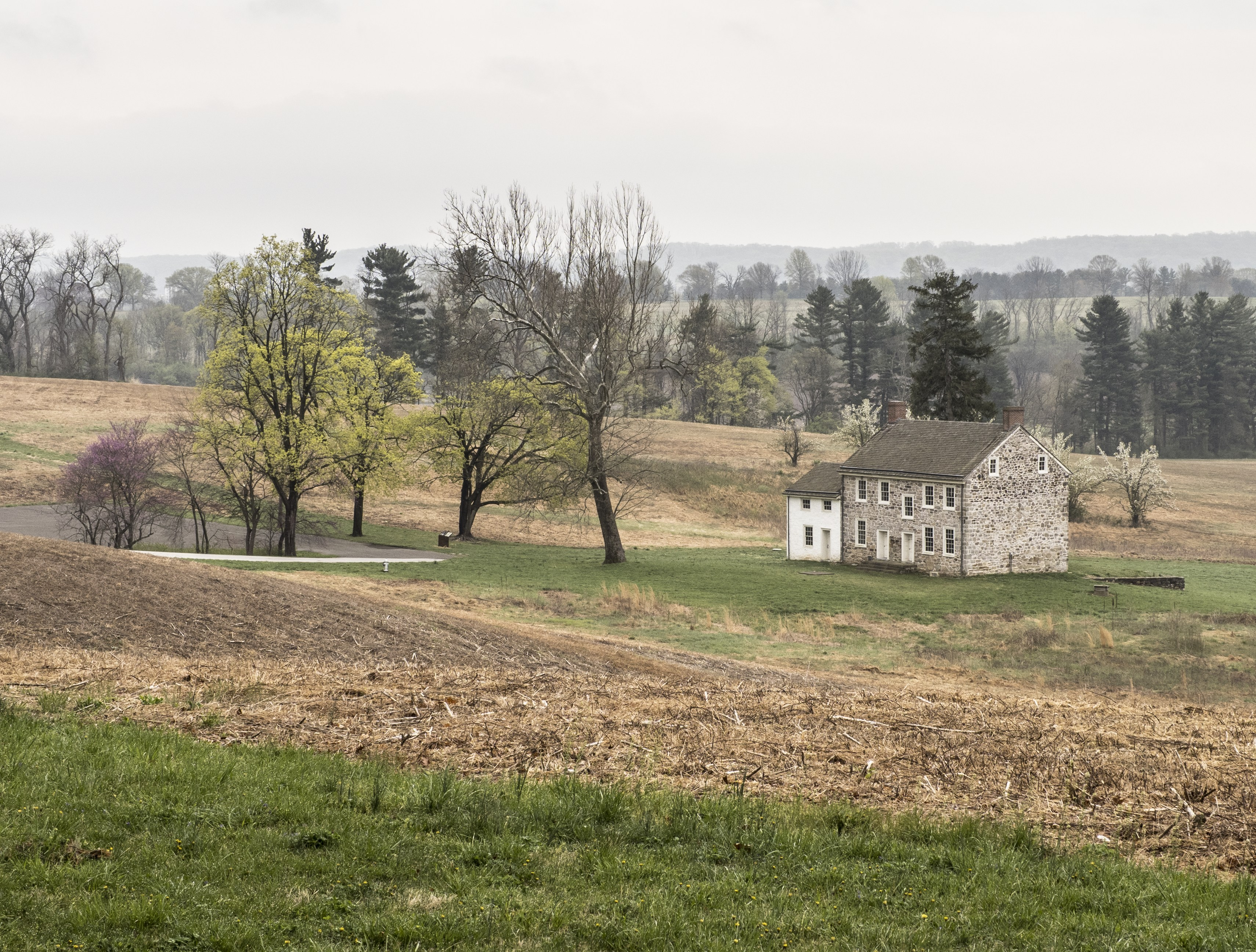 The landscape of Valley Forge.
