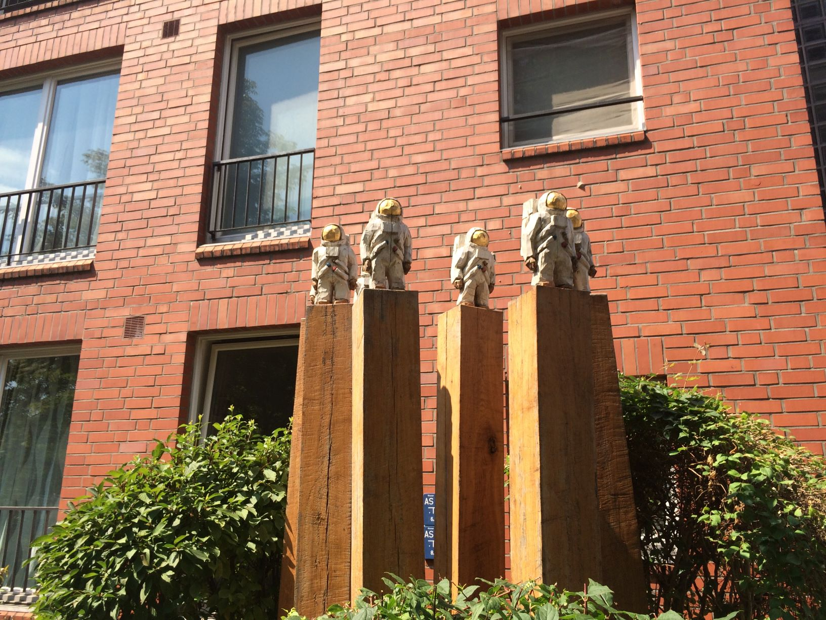 Art installation outside of the Berlinische Galerie -- 'Astronauts' by Albrecht Klink