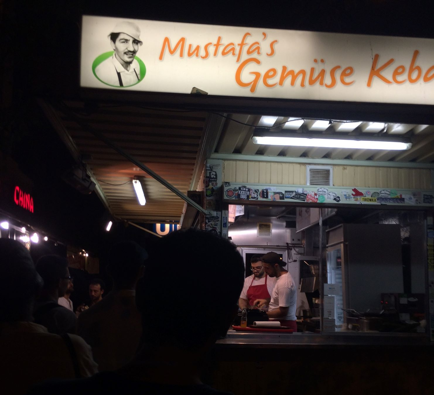 One of the more notorious and popular Doner Kebab stands, one which happened to be quite convenient for me to get to.