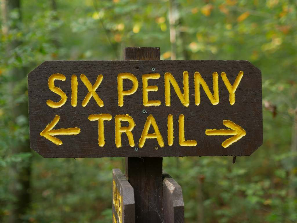 The sign for the trail.