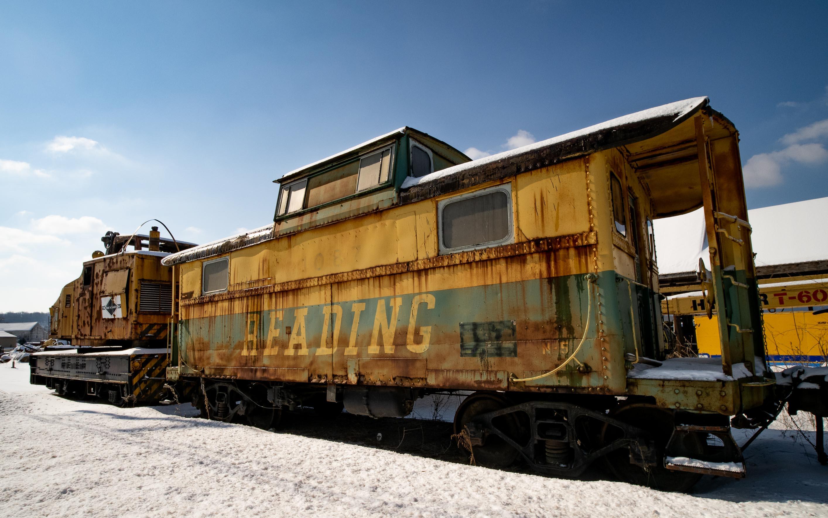 An old Reading Railroad train car.