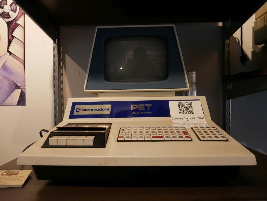 A Commodore PET. Commodore was a local company, based in West Chester.