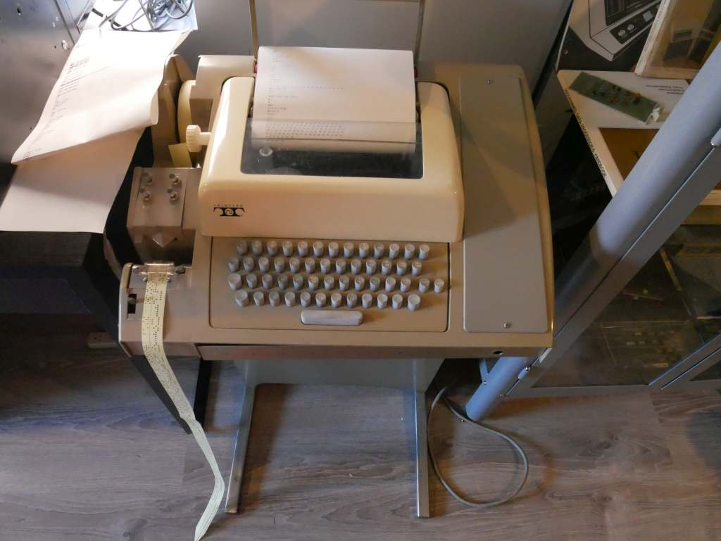 An old teletype machine