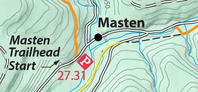 The start/finish: Masten, PA