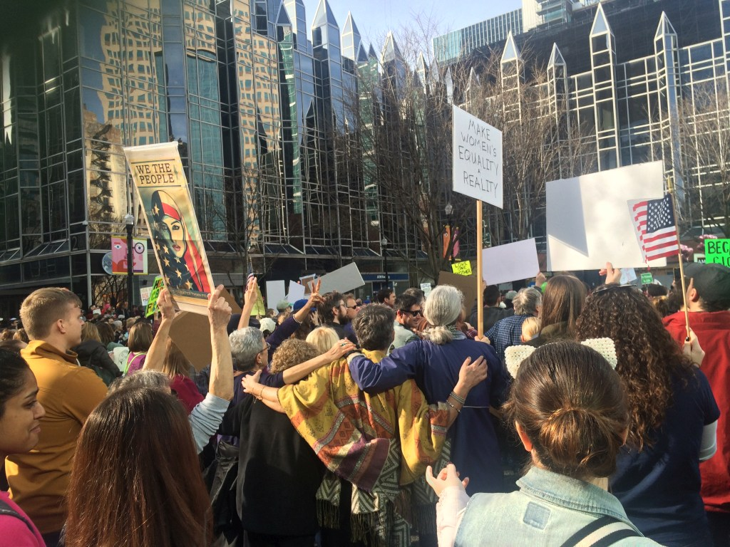 Pittsburgh's first protests after Trump's inauguration in 2017.