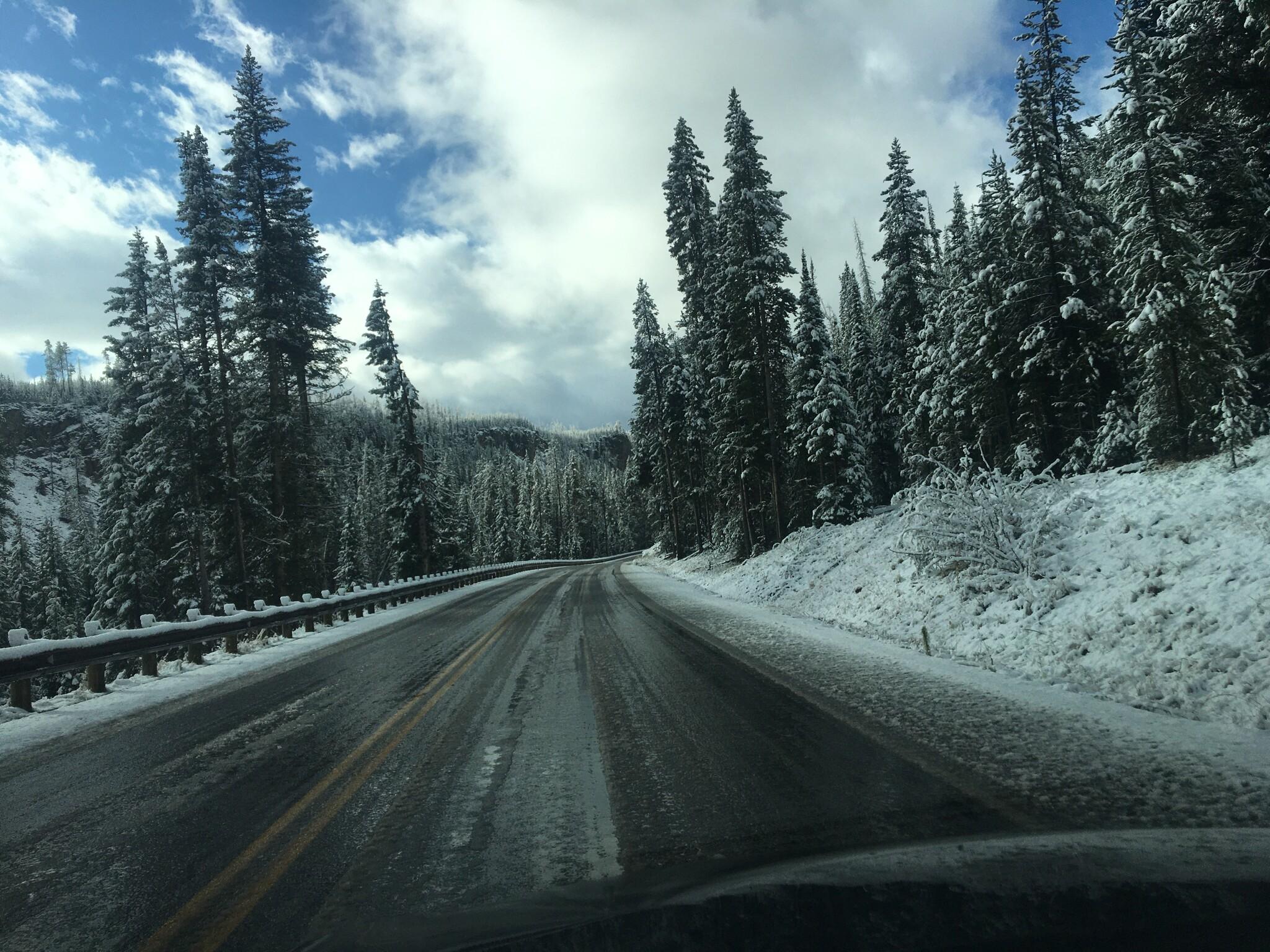 Slushy road!