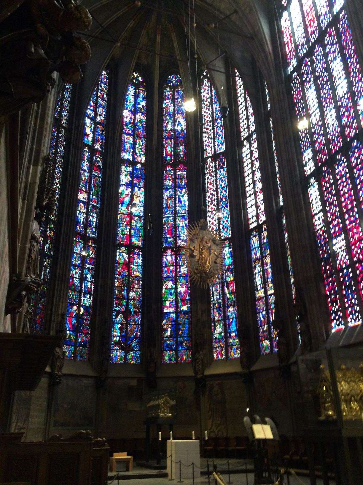 Partial interior of Aachen cathedral