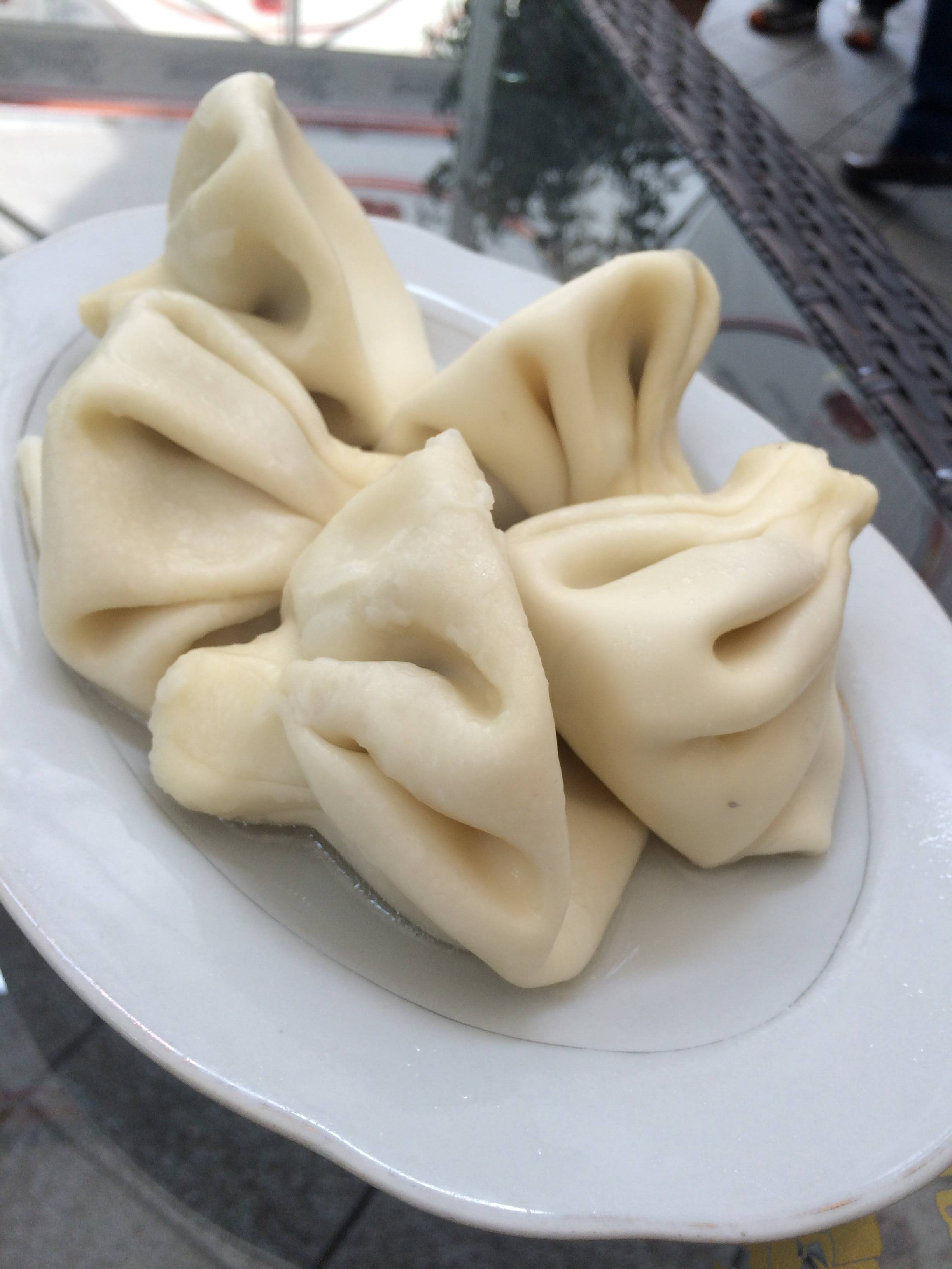 My first khinkali, the iconic Georgian dumpling.