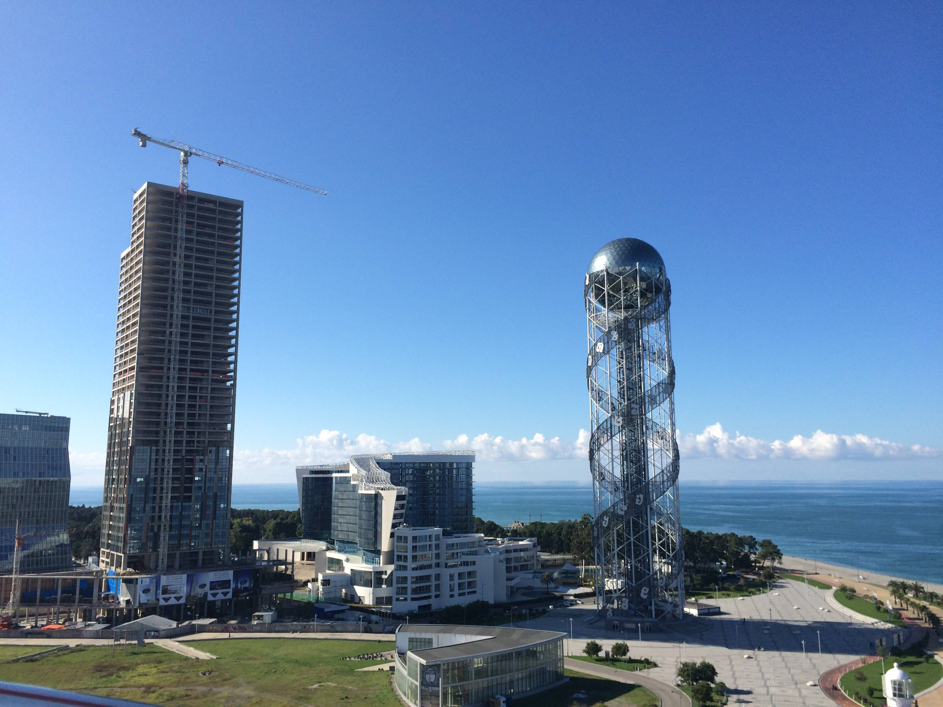 Batumi's alphabet tower.
