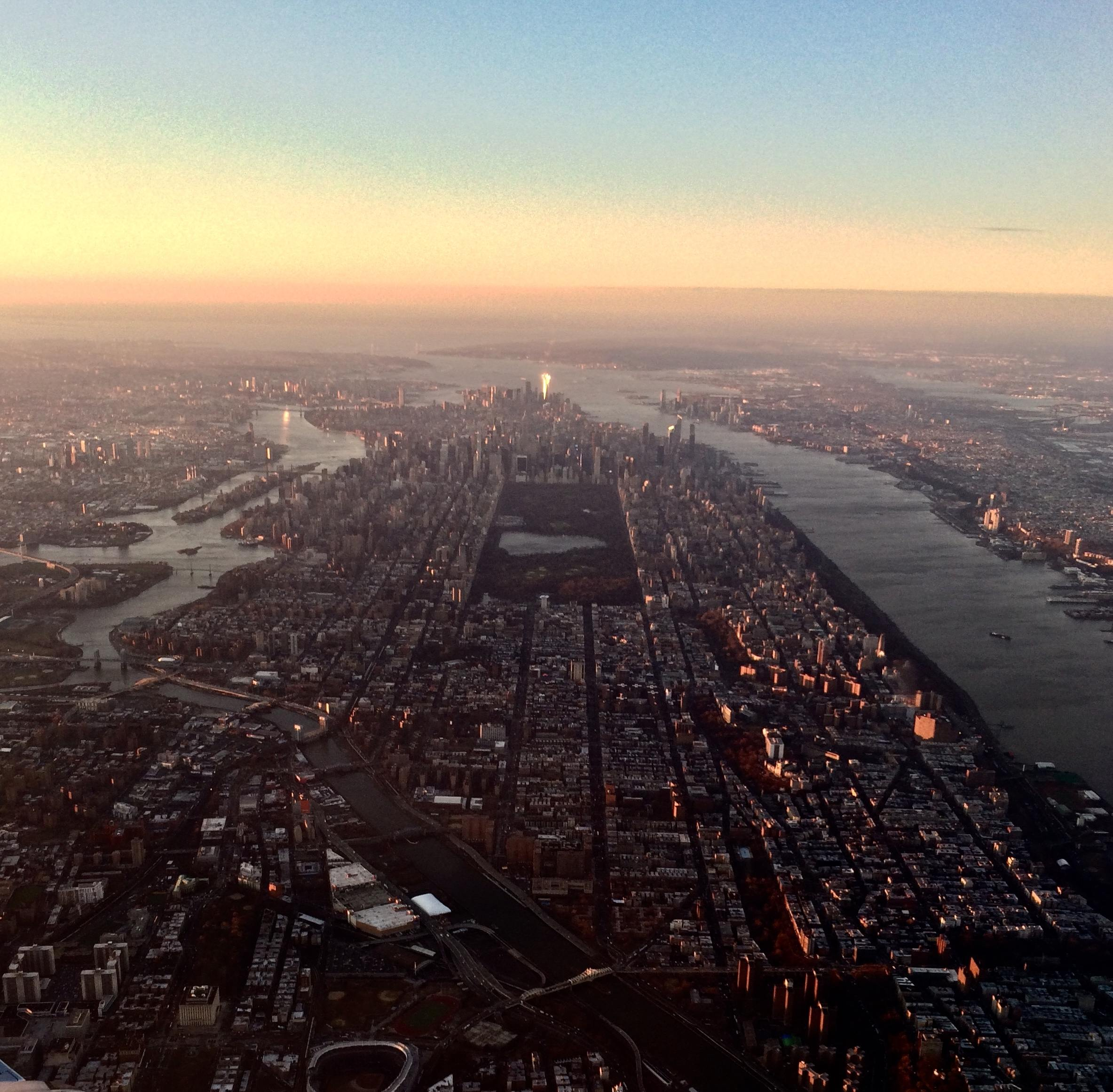 NYC from an airplane leaving LaGuardia Airport. This was the view I had when it was time for me to move to the city.