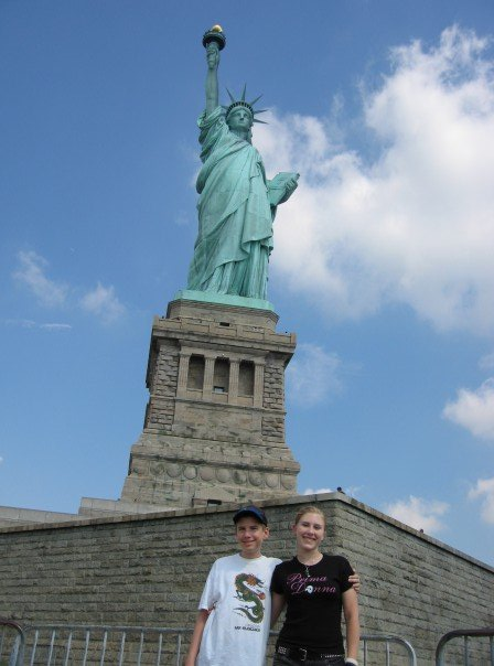 Statue of Liberty, 2007 - this is the single nicest photo of myself I could find from that trip...