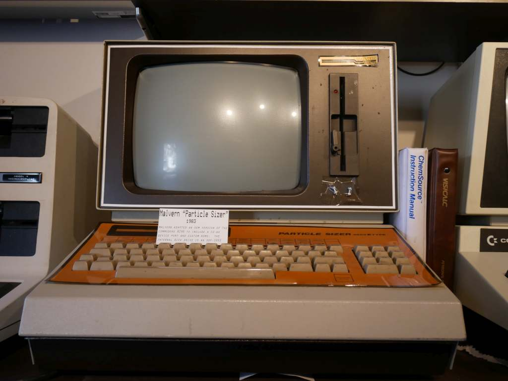 This computer from 1983 was designed specifically for particle analysis, and based on the Commodore 8296. Unlike local Commodore, the Malvern Panalytical company hails not from Malvern, PA, but from Malvern, UK.