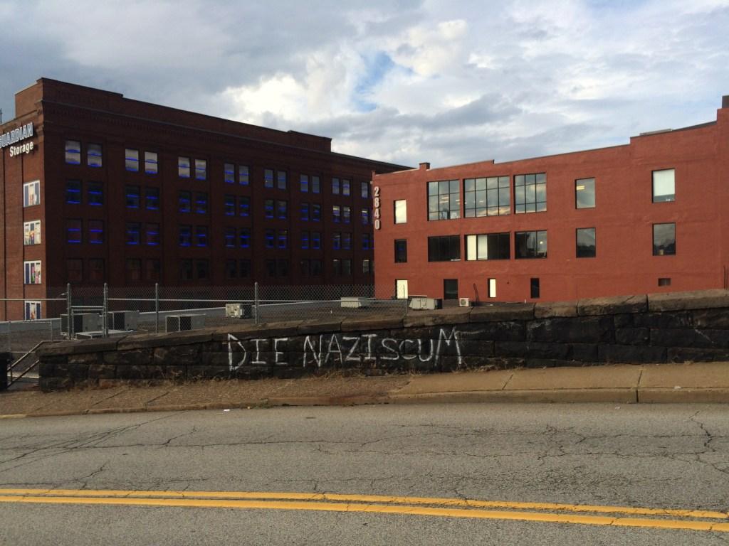 Grafitti near the Herron Ave Bridge, Pittsburgh PA, 2018.